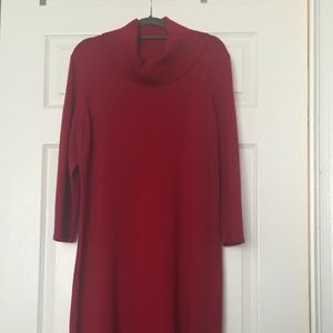 Nine West Red Cowl Neck Sweater Dress